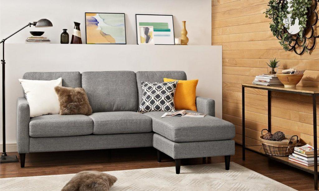 l shape sofa space