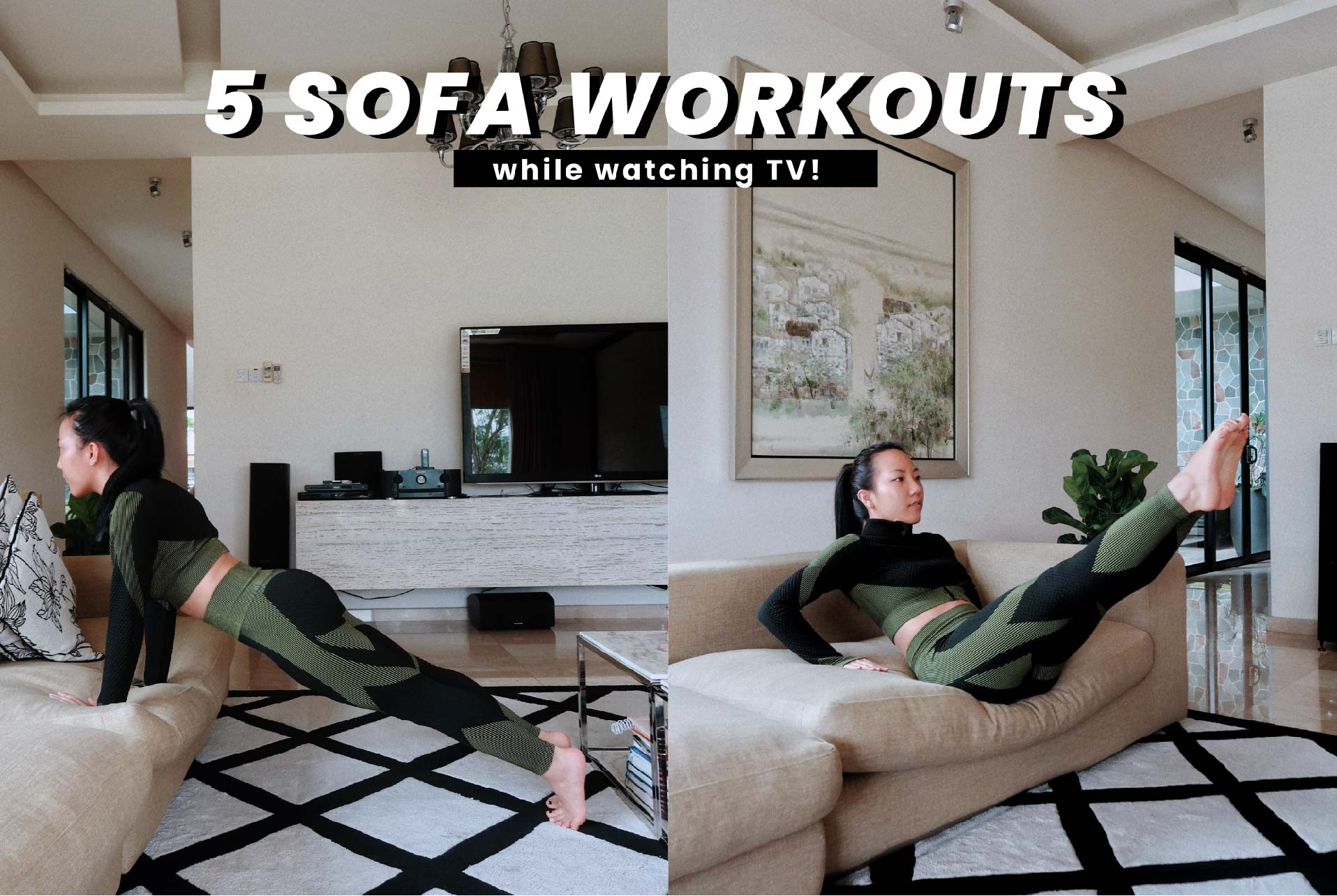 5 SOFA WORKOUTS YOU CAN DO AT HOME