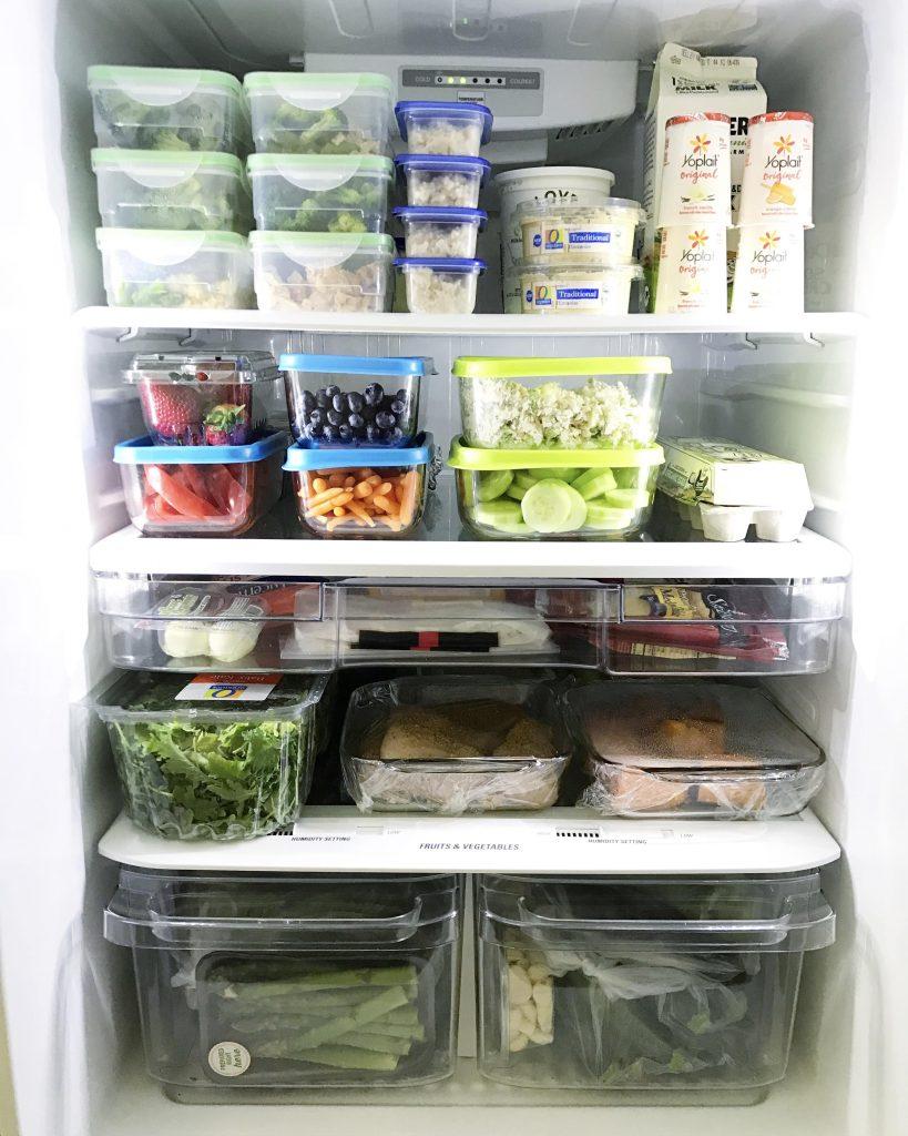 organize fridge