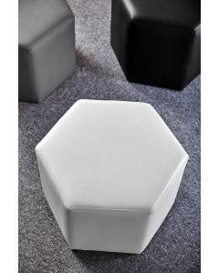 Day Hexagon Footstool - Snow