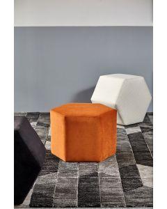 Day Hexagon Footstool - Tangerine